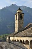 Старая башня церковного колокола, долина formazza, Италия Стоковые Изображения RF