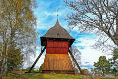 Старая башня церковного колокола Sigtuna, Швеции Стоковые Изображения RF