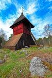 Старая башня церковного колокола Sigtuna, Швеции Стоковые Фото