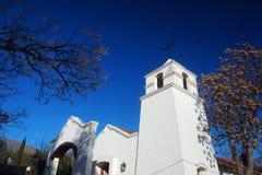 Старая белая церковь в Merlo стоковые фотографии rf
