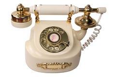 старая белизна телефона Стоковые Изображения