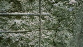 Старая бетонная стена с штуцерами Стоковое Изображение