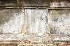 Старая белая бетонная стена Стоковая Фотография