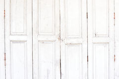 Старая белая деревянная дверь Стоковые Изображения RF