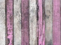 Старая белая и розовая деревянная текстура Стоковое Изображение RF