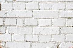 Старая белая кирпичная стена, текстура предпосылки Стоковая Фотография RF
