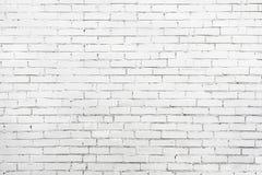 Старая белая стена сделанная кирпича Хорошая текстура для предпосылки стоковые фотографии rf