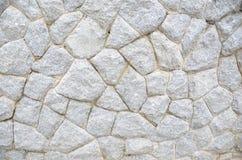 старая белизна каменной стены Стоковые Фото