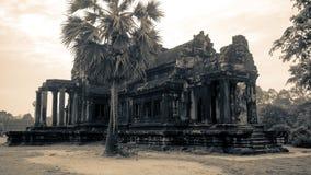 Старая библиотека Angkor Wat Стоковое Изображение RF