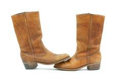 старая ботинок кожаная к пальцу ноги Стоковые Фотографии RF