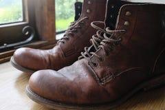 старая ботинок кожаная Стоковые Фотографии RF