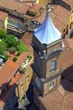 Старая болонья Италия башни с часами Стоковое Изображение