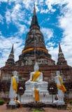 Старая большая пагода в виске на Таиланде Стоковое Изображение RF
