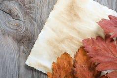 Старая бумага на деревянной поверхности Стоковая Фотография RF