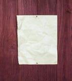 Старая бумага на древесине Стоковые Изображения RF
