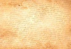 Старая бумага с латинским текстом Стоковая Фотография