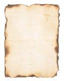 Старая бумага с, который сгорели краями стоковое изображение rf