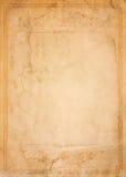 Старая бумага с сделанной по образцу винтажной рамкой Стоковые Изображения