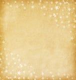 Старая бумага украшенная с звездами стоковое изображение rf