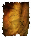 Старая бумажная карта Стоковые Фото