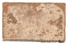 Старая бумажная обложка книги на белизне Стоковые Изображения