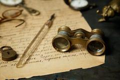 Старая бумажная рукописная предпосылка Стоковое Изображение RF