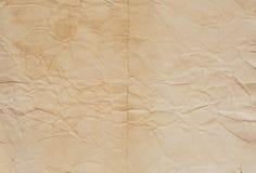 Старая бумажная текстура с линиями залома Стоковые Фотографии RF