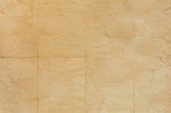Старая бумажная текстура с линиями залома стоковое изображение rf