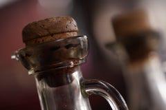 Старая бутылка масла с пробочкой Стоковое фото RF