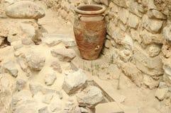 Старая ваза в Knossos Стоковое Изображение