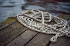 Старая веревочка корабля Стоковое Фото