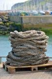 Старая веревочка перлиня Стоковые Фото