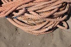 Старая веревочка рыбной ловли Стоковая Фотография RF