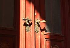 старая двери передняя Стоковое Фото