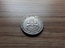 Старая версия тайской монетки ванны 5 Стоковое фото RF