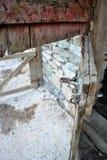Старая дверь амбара Стоковое фото RF