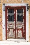 Старая дверь, Афины, Греция Стоковое Изображение