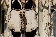 Старая дверь в Таиланде стоковое изображение