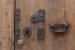 Старая дверь замка Стоковое фото RF