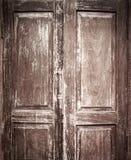 Старая дверь китайского стиля с виньеткой Стоковое Фото