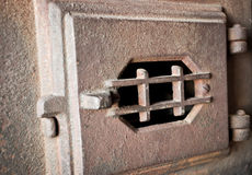Старая дверь печи Стоковые Изображения