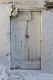 Старая дверь Vasiliki, лефкас, Ionian острова Стоковые Фотографии RF