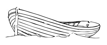 Старая весельная лодка Стоковые Изображения RF