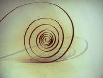 старая весна на маятнике в форме спирали сердце вахты Стоковая Фотография RF