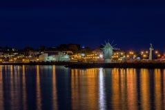 Старая ветрянка в древнем городе Nesebar в Болгарии Вход к старому городку Heri мира ЮНЕСКО побережья Чёрного моря болгарина Стоковые Изображения