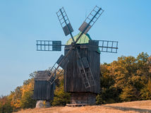 Старая ветрянка в парке, Киев Стоковые Фотографии RF