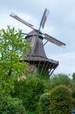 старая ветрянка деревянная Стоковые Фотографии RF