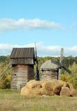 старая ветрянка сторновки крена стоковое изображение rf