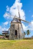 Старая ветрянка Bezard в Marie Galante, Гваделупе Стоковая Фотография