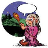 старая ведьма Стоковые Изображения
